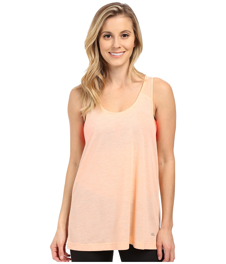 ALO - Vapor Tank (Tropical Peach Fleck) Women's Sleeveless