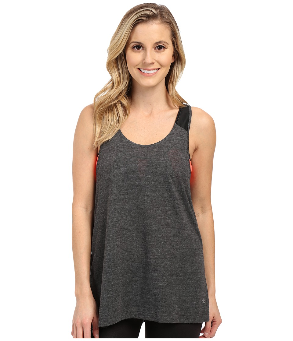 ALO - Vapor Tank (Charcoal Fleck) Women's Sleeveless