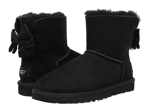 UGG - Mini Bailey Antoinette Bow (Black Twinface) Women