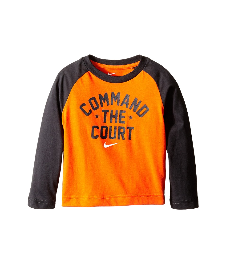 Nike Kids - Command the Court Long Sleeve Tee (Toddler) (Electro Orange) Boy's T Shirt