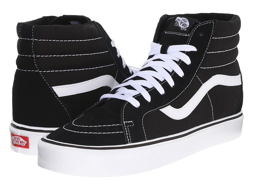 Vans - Sk8-Hi Lite + ((Suede/Canvas) Black/White) Men