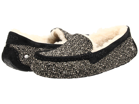UGG - Ansley Fancy (Black Tweed) Women's Slippers