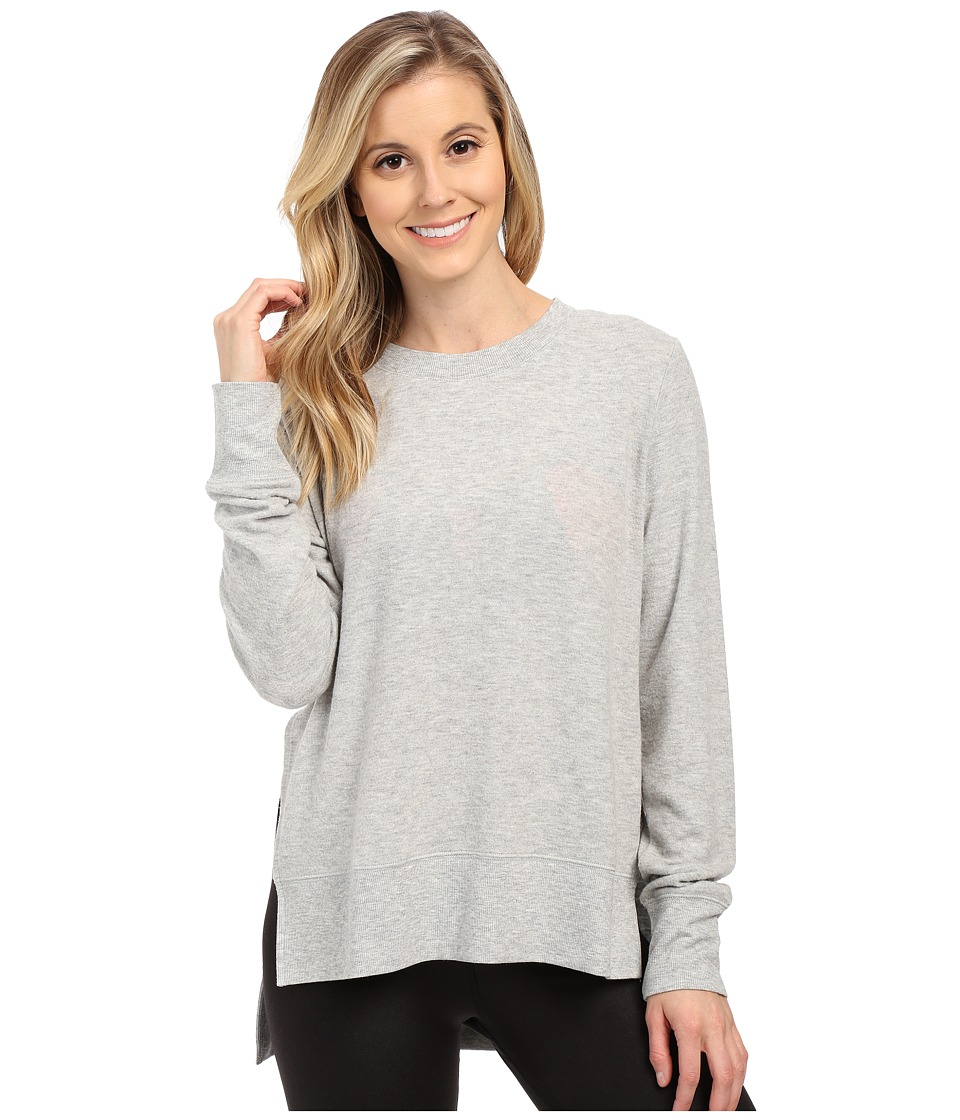 ALO - Glimpse Long Sleeve Top (Vapor Grey Heather) Women's Clothing