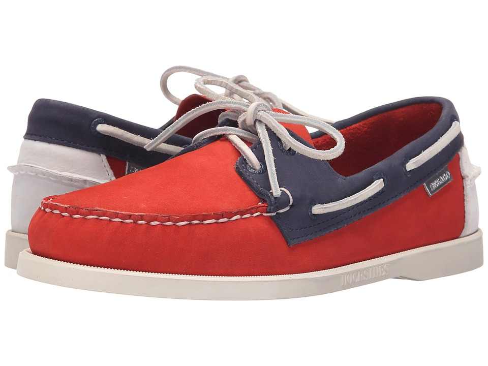 Sebago - Spinnaker 70th Anniversary (Orange/Navy Nubuck) Men's Shoes
