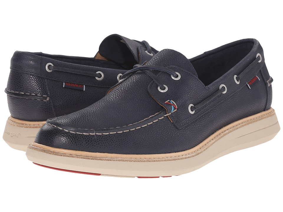 Sebago - Smyth Two Eye (Navy Leather) Men's Shoes