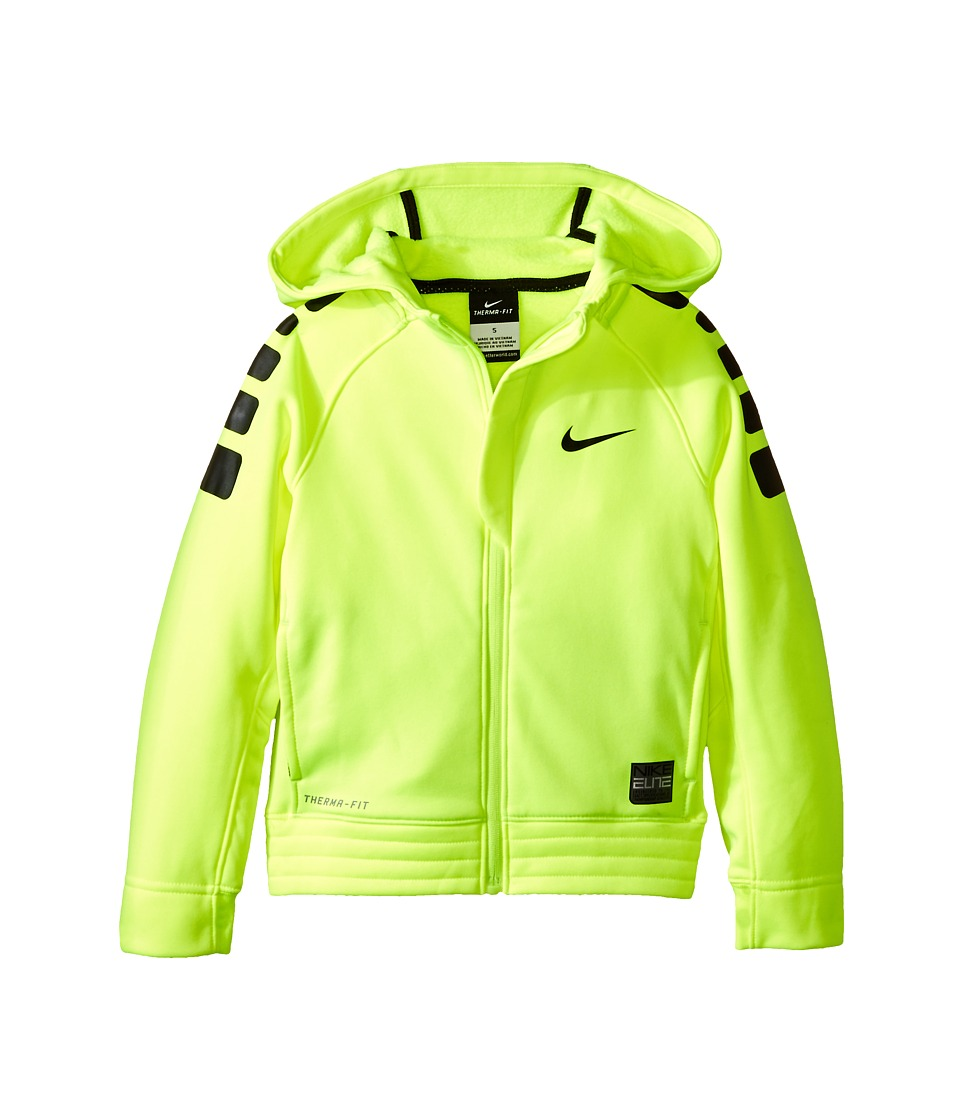 Nike Kids - Elite Stripe Hoodie (Little Kids) (Volt) Boy's Sweatshirt