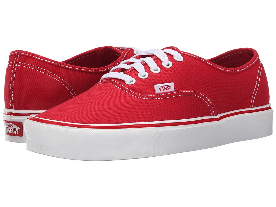 Vans - Authentic Lite + ((Canvas) Red) Men's Skate Shoes