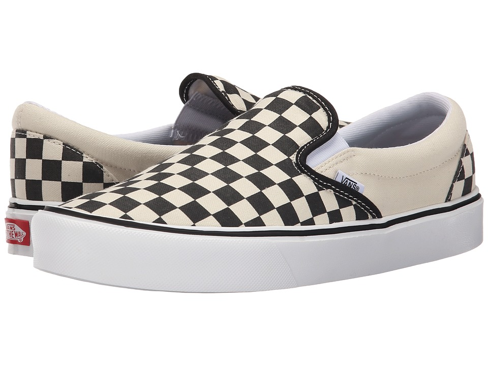 Vans - Slip-On Lite + ((Checkerboard) Black/Classic White) Men's Skate Shoes