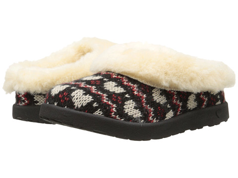 UGG Kids - Slip Fair Isle (Little Kid/Big Kid) (Black) Girls Shoes