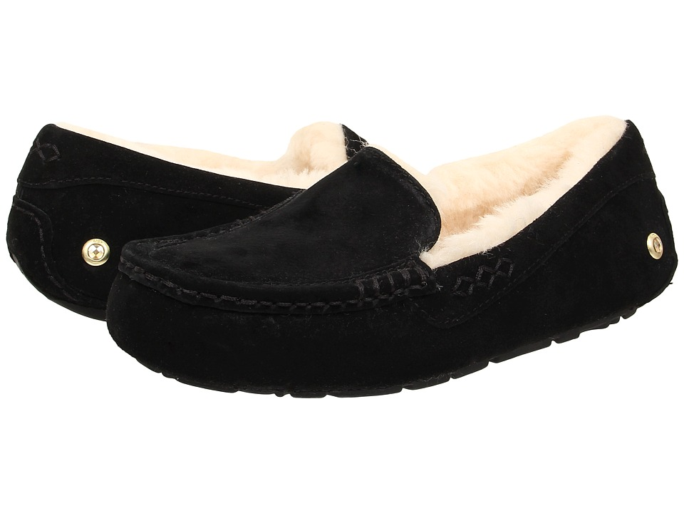 UGG - Ansley Ornate (Black Suede) Women's Slippers