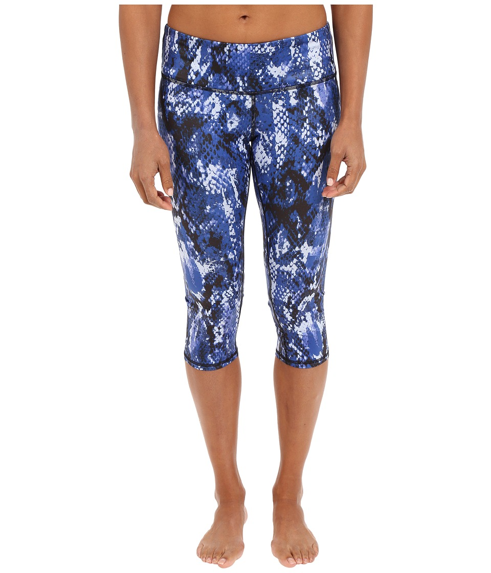 ALO - Airbrushed Capri (Deep Electric Blue Python) Women's Workout
