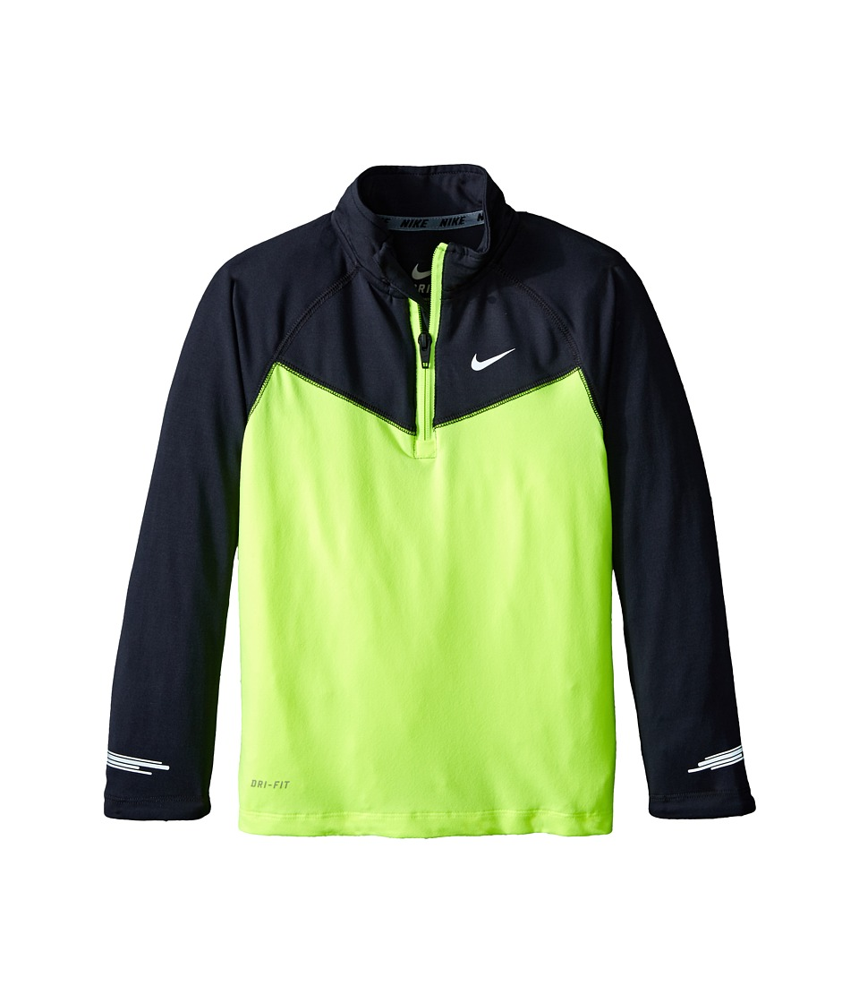 Nike Kids - Element Half Zip Top (Little Kids) (Volt) Boy's Long Sleeve Pullover