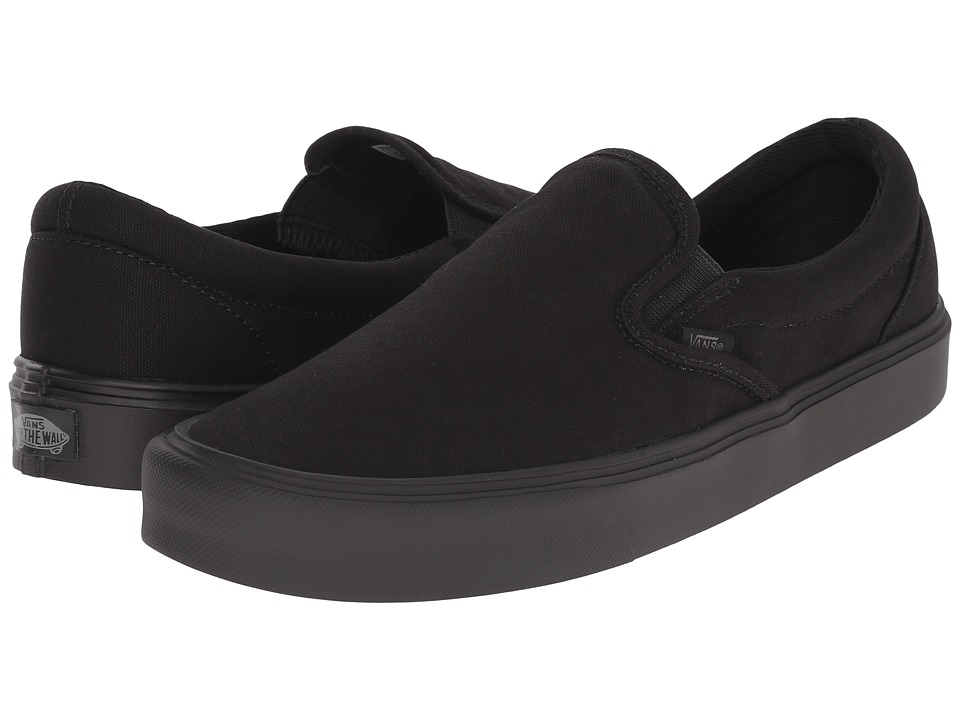 Vans - Slip-On Lite + ((Canvas) Black/Black) Men's Skate Shoes