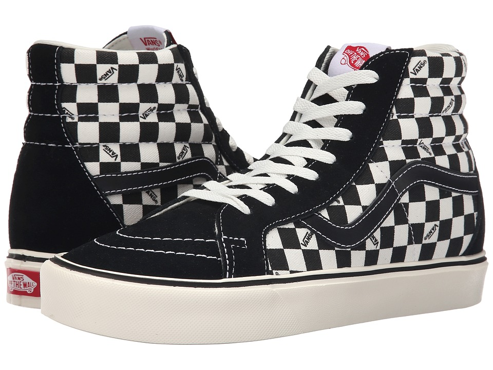 Vans - Sk8-Hi Lite + ((Reissue) Black/Check) Men's Skate Shoes