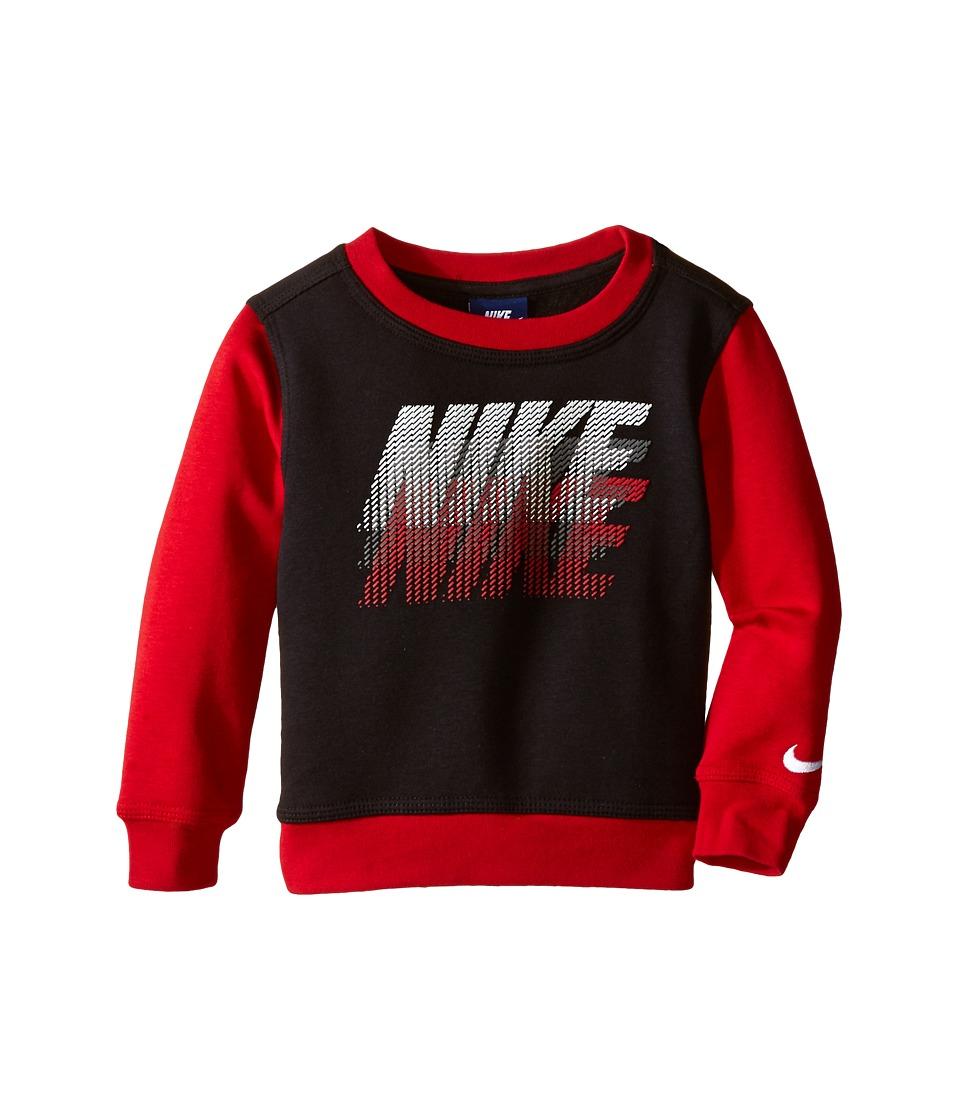 Nike Kids - GFX Crew Shirt (Toddler) (Black) Boy's Long Sleeve Pullover