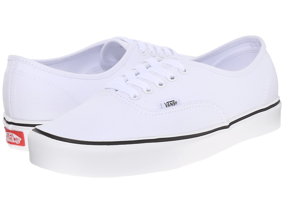 Vans - Authentic Lite + ((Canvas) True White) Men's Skate Shoes