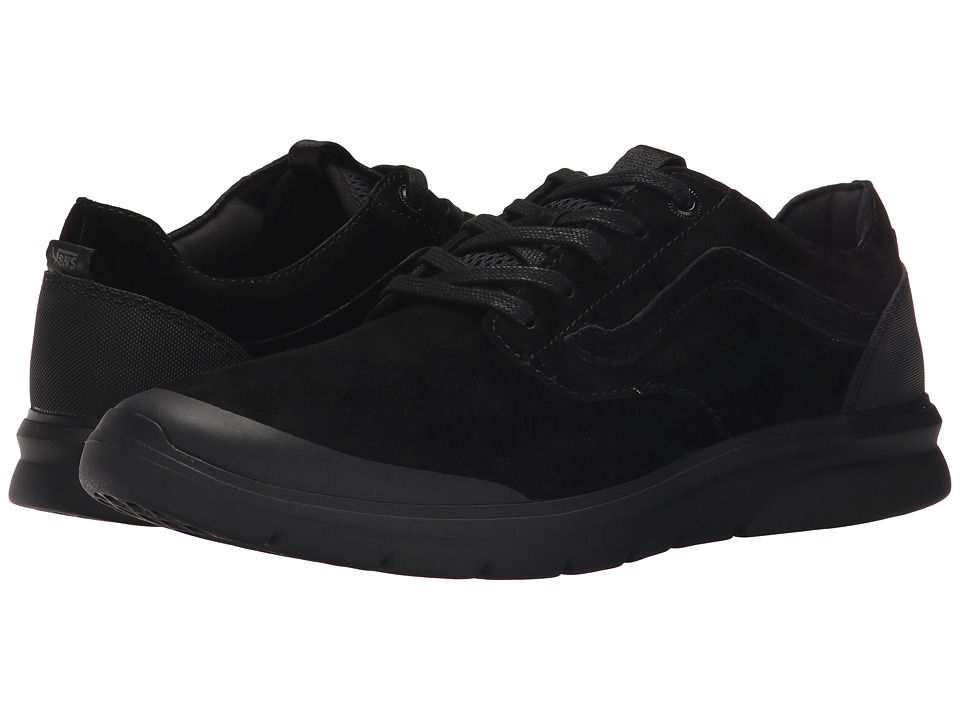 Vans - Iso Perf + ((Nubuck) Black/Black) Men's Skate Shoes