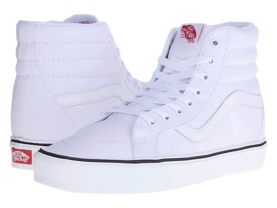 Vans - Sk8-Hi Lite + ((Canvas) True White) Men's Skate Shoes