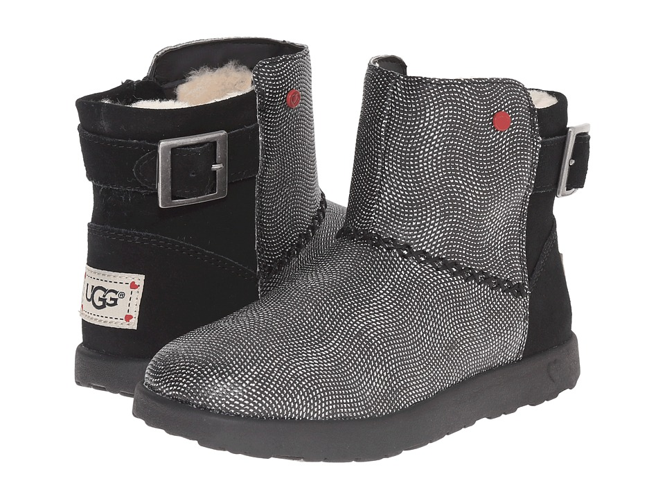 UGG Kids - Ivy Geometric (Little Kid/Big Kid) (Black) Girls Shoes
