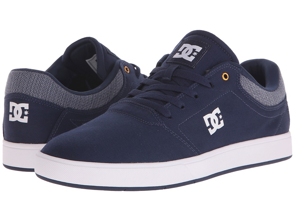 DC - Crisis TX (Navy) Men's Skate Shoes
