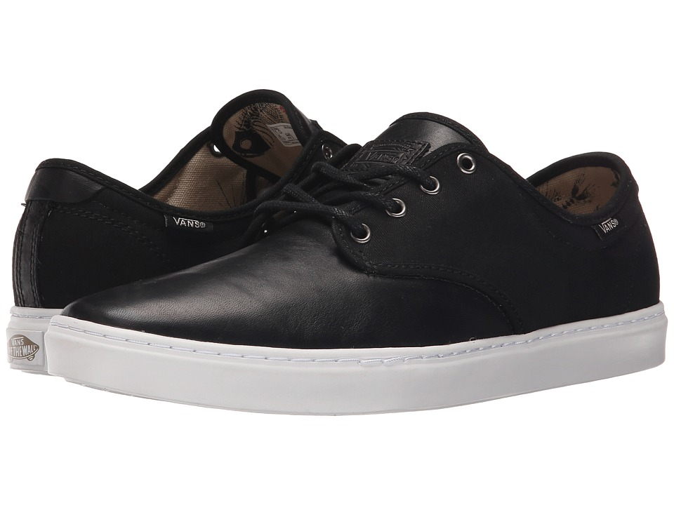 Vans - Ludlow + ((Fish Bones) Black/White) Men's Skate Shoes