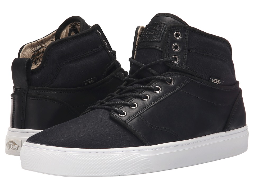 Vans - Alomar + ((Fish Bones) Black/White) Men's Skate Shoes