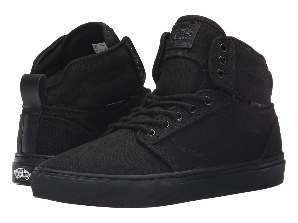 Vans - Alomar + ((Heavy Canvas) Black/Black) Men's Skate Shoes
