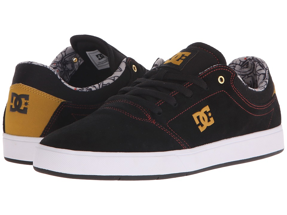 DC - Crisis (Black/Tan) Men's Skate Shoes