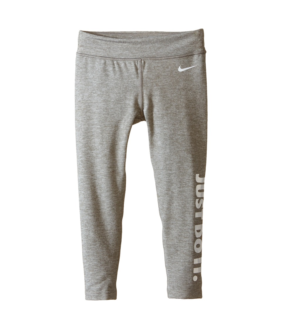 Nike Kids - Leg-A-See Leggings (Little Kids) (Dark Grey Heather) Girl's Workout