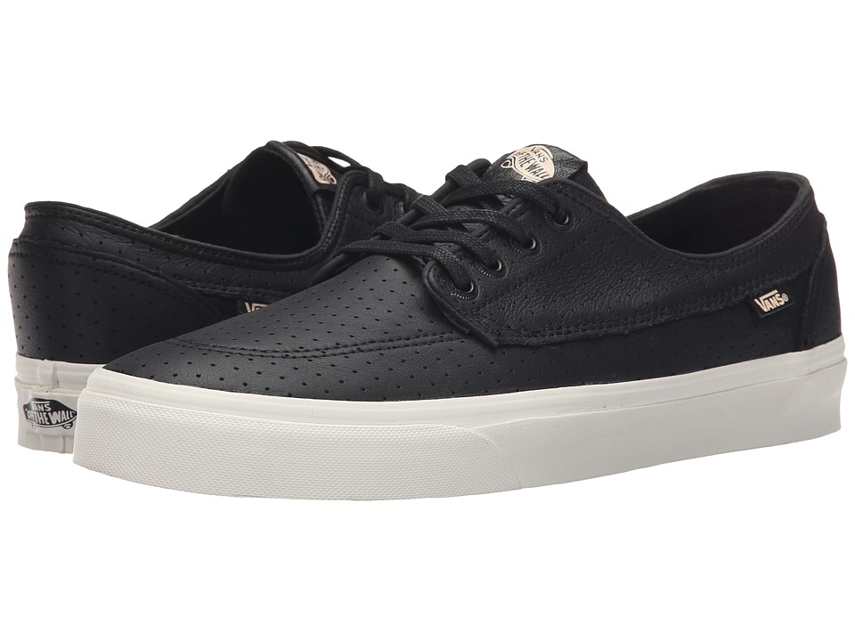 Vans - Brigata + ((Perf Leather) Black) Men's Skate Shoes