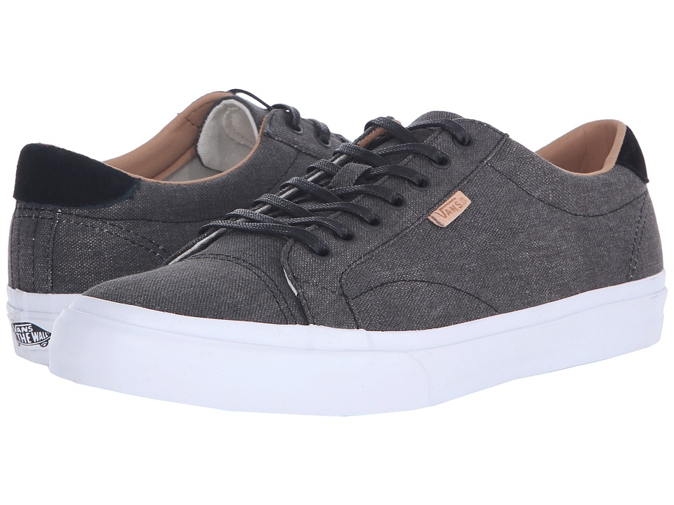Vans - Court + ((Washed Canvas) Black) Men's Skate Shoes