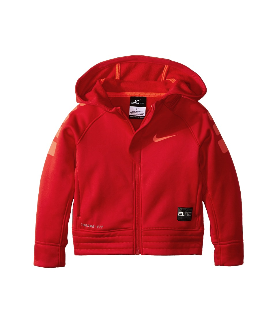 Nike Kids - Elite Stripe Hoodie (Toddler) (University Red) Boy's Coat