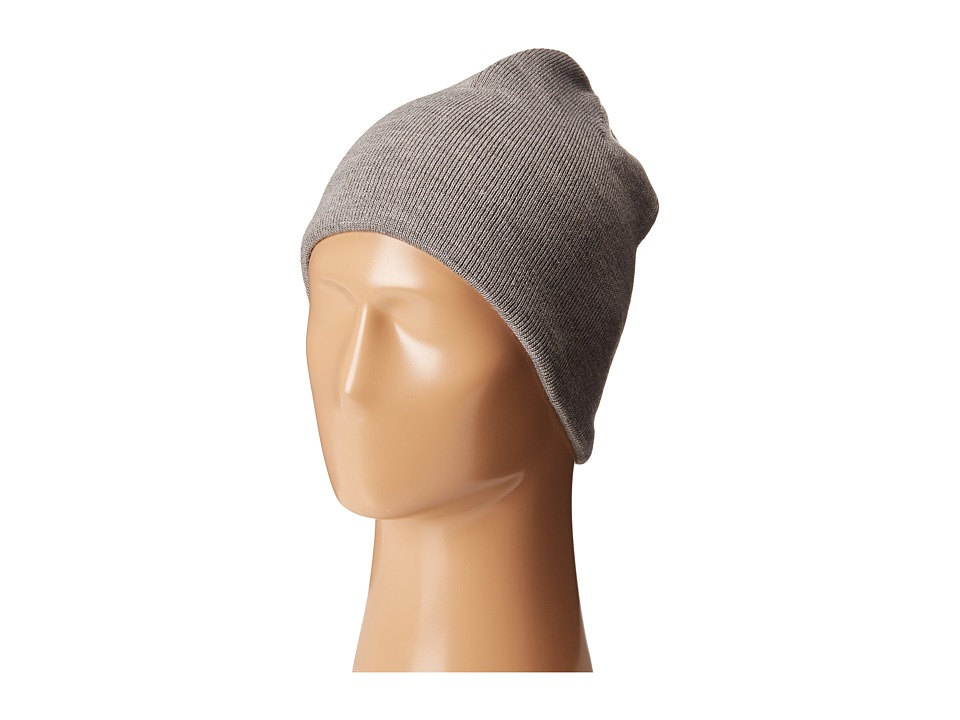 Calvin Klein - Diagonal Dashes Reversible Logo Beanie (Flannel/Soft Grey) Beanies