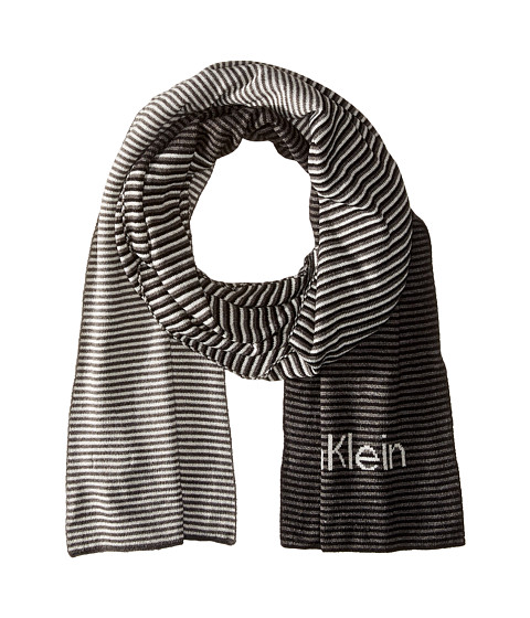 Calvin Klein - Ombre Logo Muffler (Black/Charcoal Grey/Soft Grey) Scarves