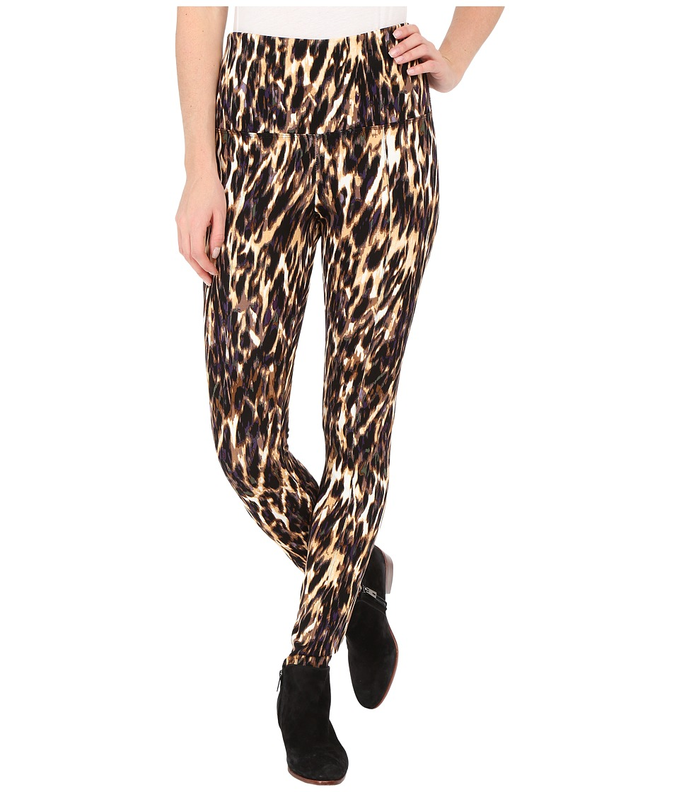 Lysse - Ponte Legging w/ Center Seam 1519 (Leopard Blur) Women