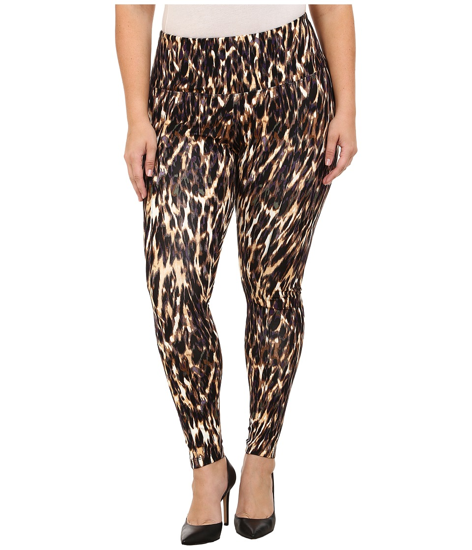 Lysse - Plus Size Ponte Legging w/ Center Seam 15190 (Leopard Blur) Women's Casual Pants