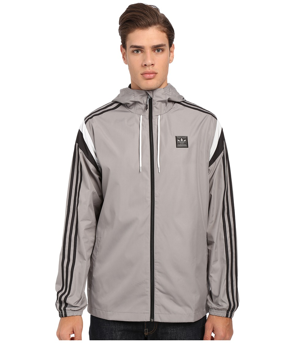 adidas Skateboarding - Rider Wind Jacket 2.0 (Solid Grey) Men's Jacket