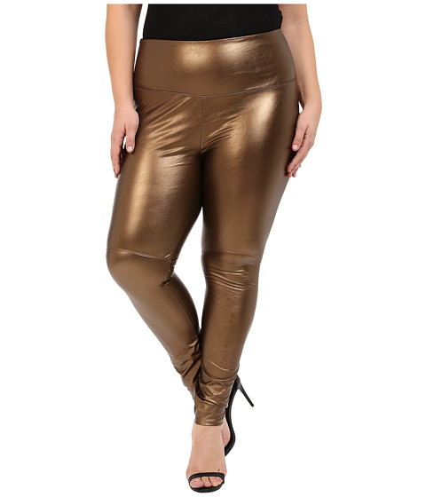 Lysse - Plus Size Vegan Leather Leggings (Copper) Women