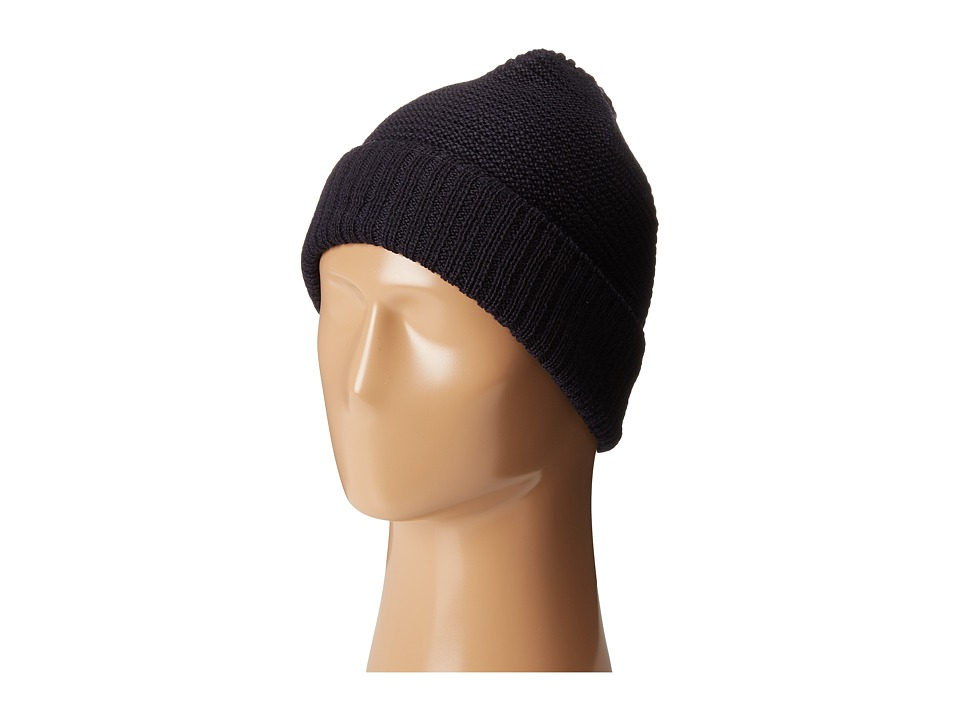 Calvin Klein - Horizontal Rib Cuff Hat (Nautical Navy) Caps