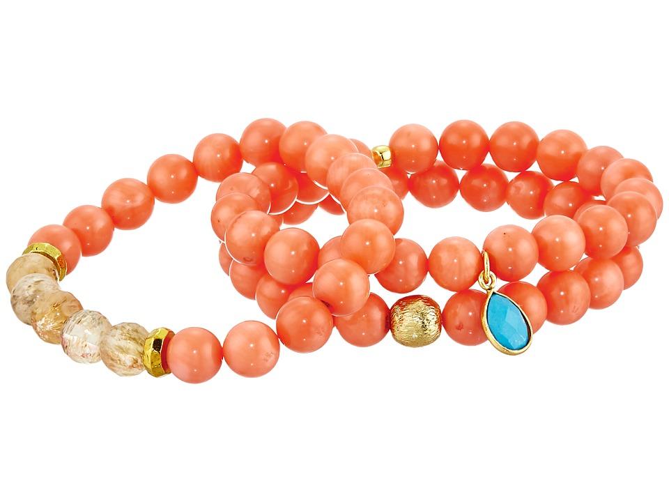 Dee Berkley - Beach Bum Bracelet (Coral) Bracelet