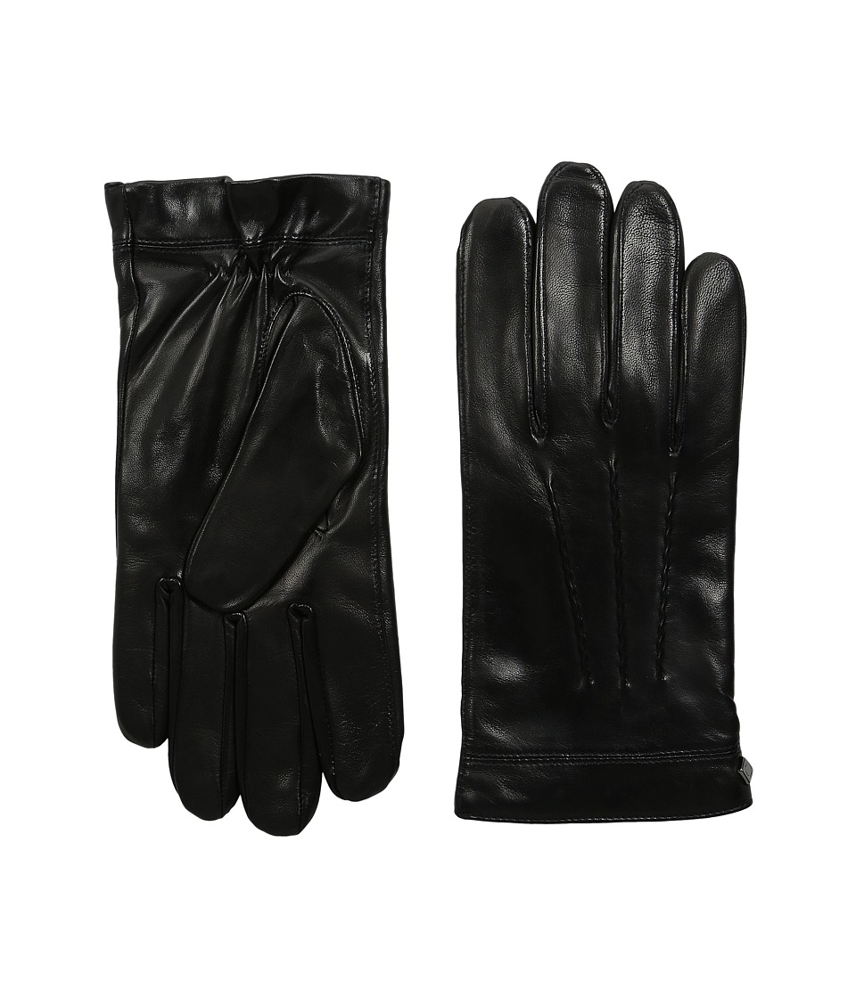 Cole haan black leather gloves - 888698323577