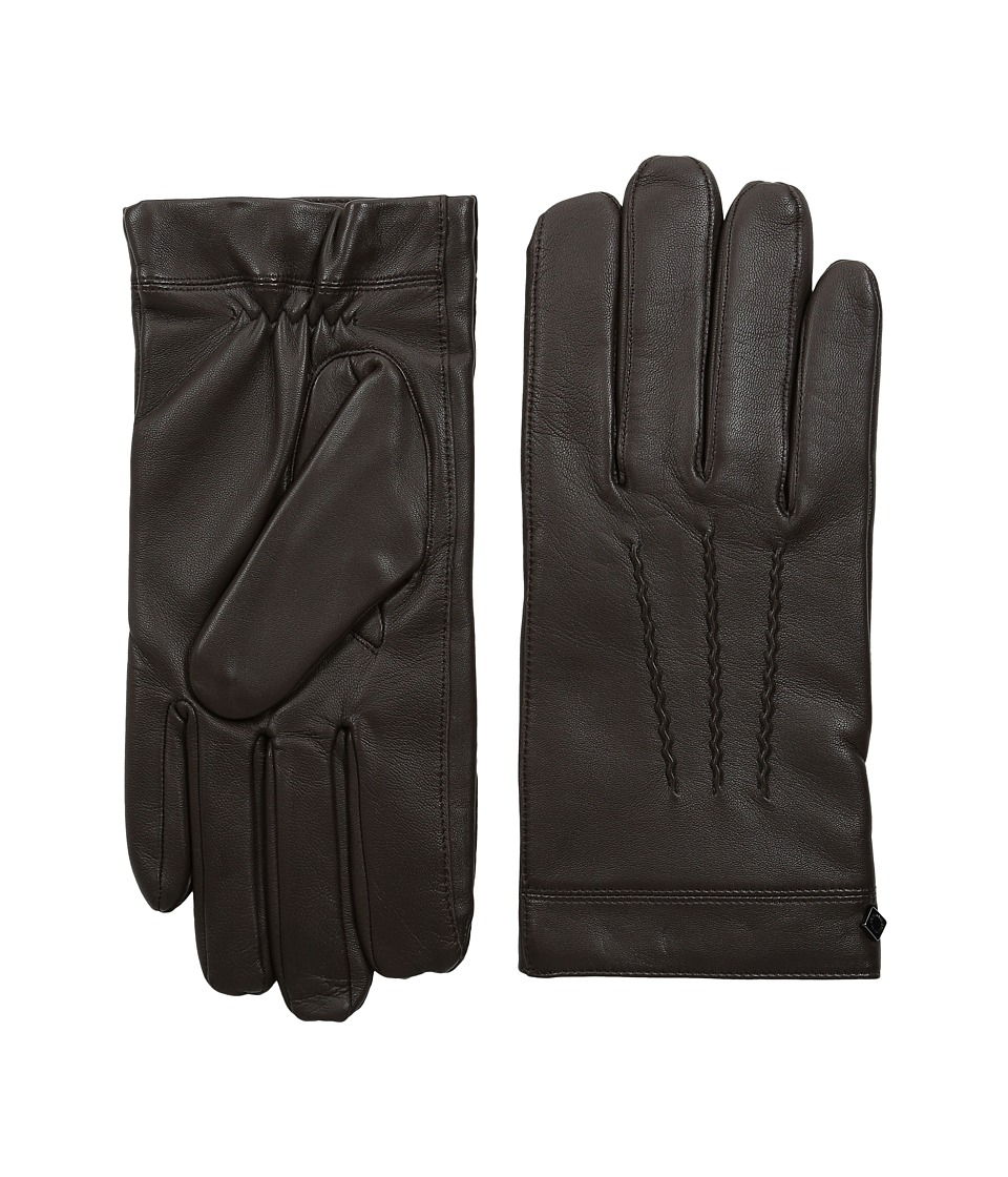 Cole Haan - Spliced Leather Glove (Brown) Over-Mits Gloves