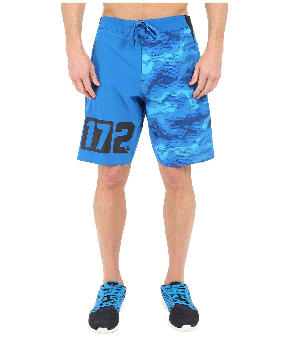 Reebok - One Series Nasty Camo Boardshorts (Blue Sport) Men's Swimwear