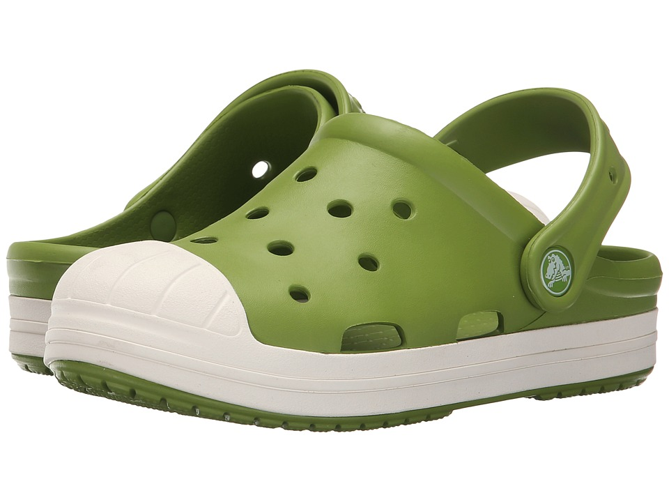 Crocs Kids - Bump It Clog (Toddler/Little Kid) (Parrot Green/Oyster) Kids Shoes