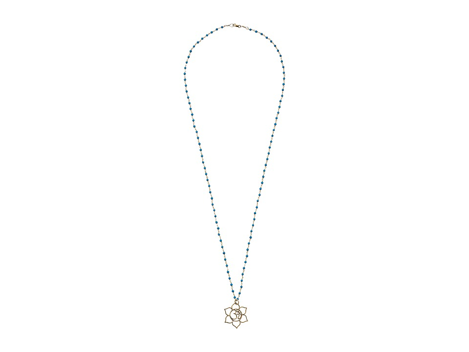 Dee Berkley - Lotus Flower Necklace (Tuquoise) Necklace