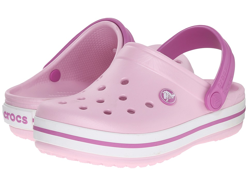Crocs Kids - Crocband Clog (Toddler/Little Kid) (Ballerina Pink/Wild Orchid) Kids Shoes