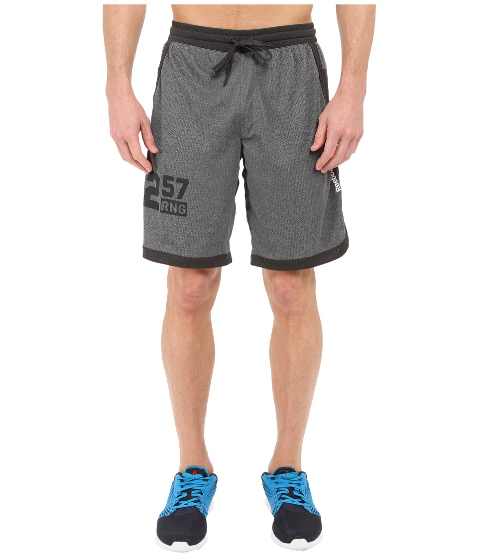 Reebok - One Series Speedwick Mesh Knit Shorts (Dark Solid Grey) Men's Shorts