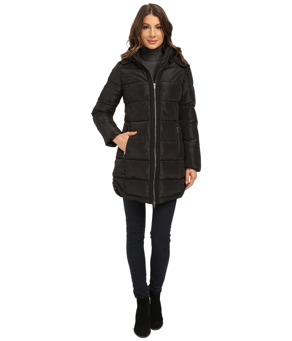 Mavi Jeans - Hooded Long Coat (Black) Women's Coat plus size,  plus size fashion plus size appare