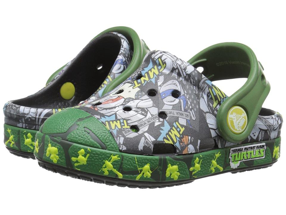 Crocs Kids - Bump It TMNT Clog (Toddler/Little Kid) (Black/Seaweed) Boy's Shoes