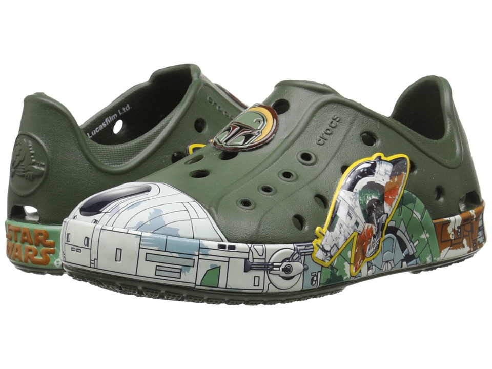 Crocs Kids - Bump It Star Wars Boba Fett Shoe (Toddler/Little Kid) (Forest Green) Boys Shoes